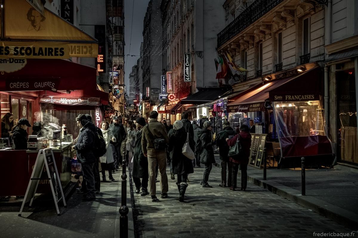Rue de la huchette, un soir d'hiver